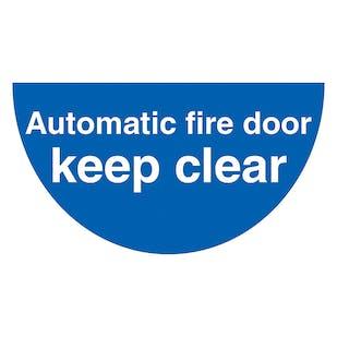 Automatic Fire Door - Temporary Floor Sticker
