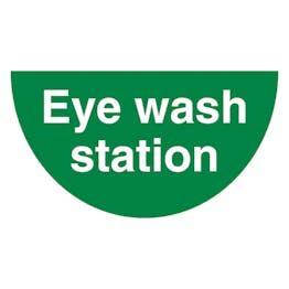 Eye Wash Station Semi Circle - Temporary Floor Sticker