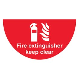 Fire Extinguisher - Temporary Floor Sticker