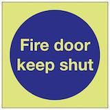 Glow In The Dark Fire Door Signs