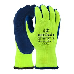 UCI Koolgrip®-II Thick Yellow Latex Palm Coated Gloves