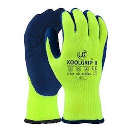 UCI Koolgrip®-II Thick Yellow Latex Palm Coated Gloves