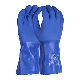 UCI R530 30cm Triple Dipped Blue PVC Gauntlet