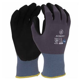 UCI Adept Anti-Viral Nitrile Palm Coated Gloves