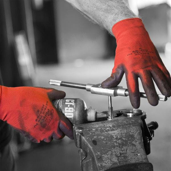 Polyco Matrix Red PU Gloves - Cut Level 1