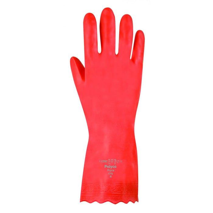 Polyco Pura™ Mediumweight PVC Flock Lined Gloves