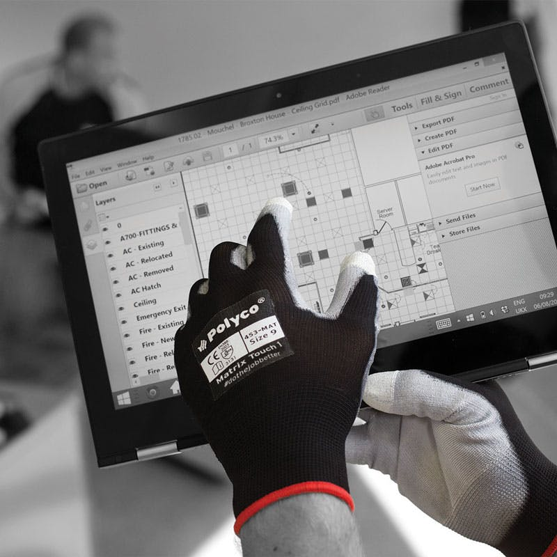 Polyco Matrix Touch 1 PU Palm Coated Gloves