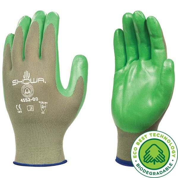 Showa 4552 Biodegradable Nitrile Gripper Gloves