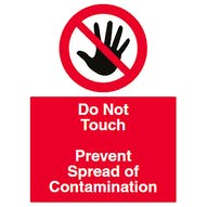 Do Not Touch - Prevent Contamination