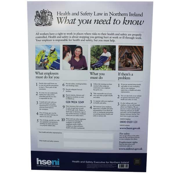 HSE Law In Northern Ireland Poster