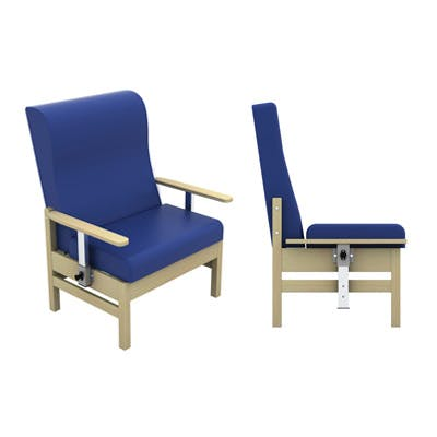 High-Back Bariatric Chair with Drop Arms