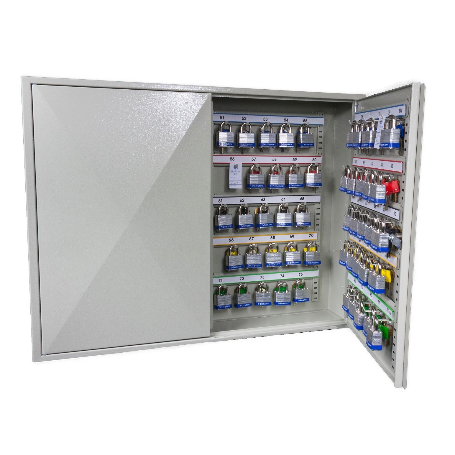 high_capacity_key_cabinets_with_electronic_cam_lock_100_hook_open.jpg