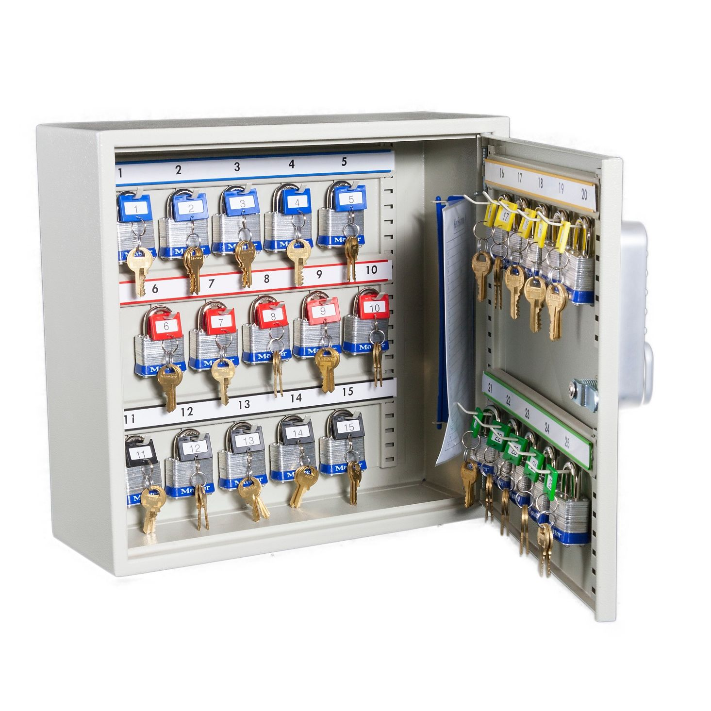 high_capacity_key_cabinets_with_electronic_cam_lock_25_hook_open.jpg