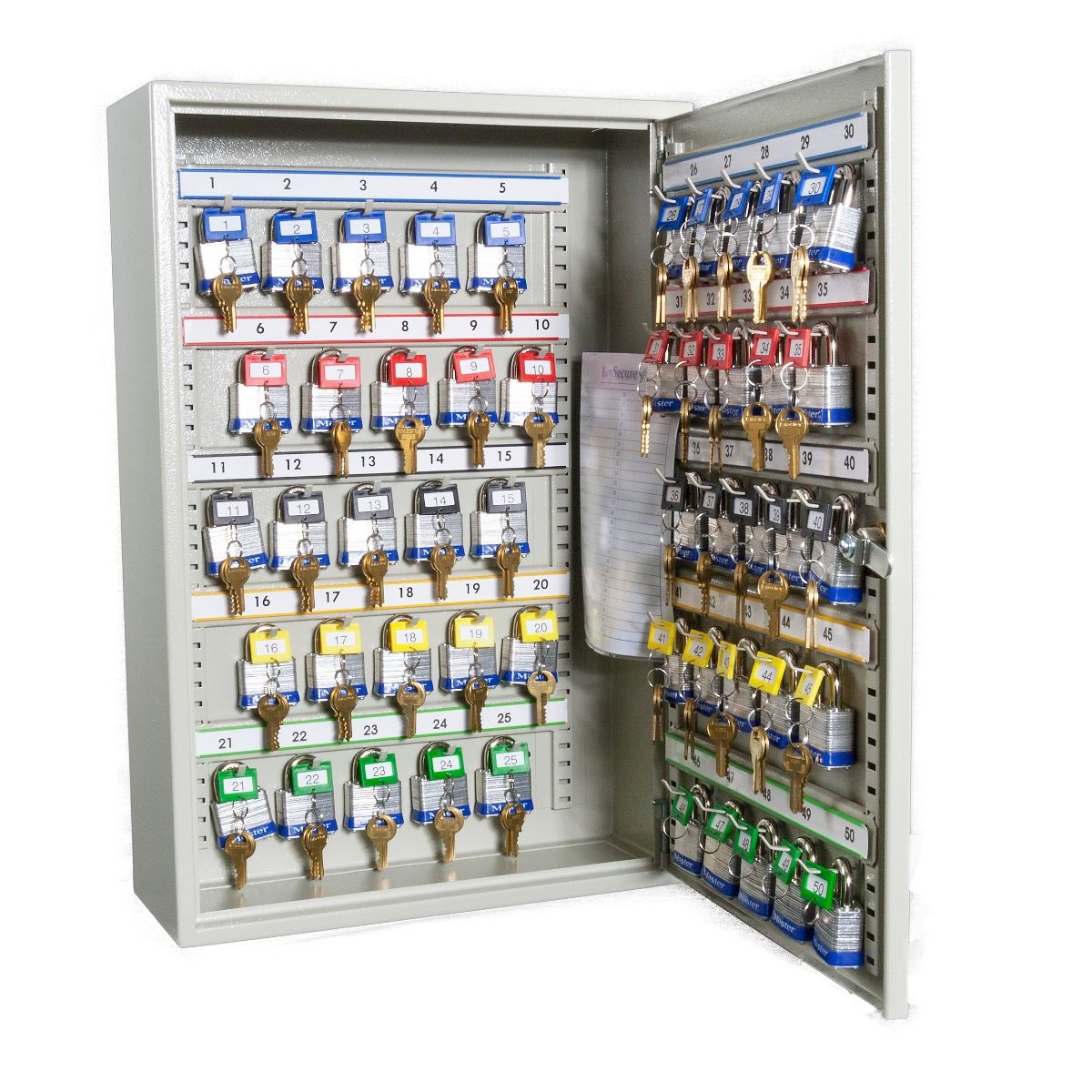 high_capacity_key_cabinets_with_electronic_cam_lock_50_hook_open.jpg