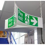 Triangular Hanging Fire Exit Signs