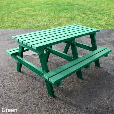 Junior Picnic Table - Solid Colour