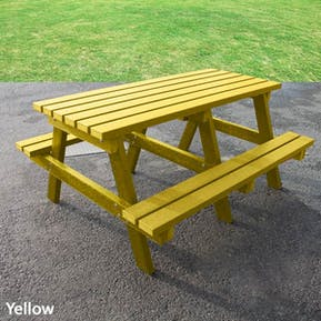 Junior Picnic Table - Solid Colour
