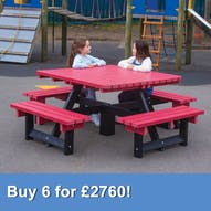 Junior Square Picnic Table