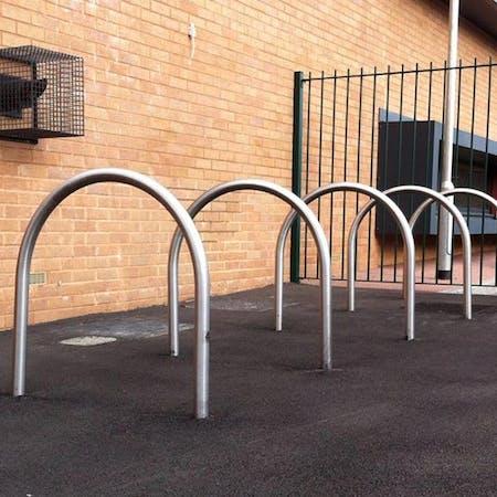 Hoop Cycle Stands - Stainless Steel