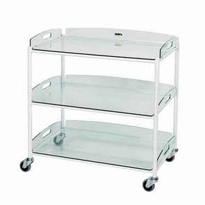 Large Dressing Trolley - Glass Effect