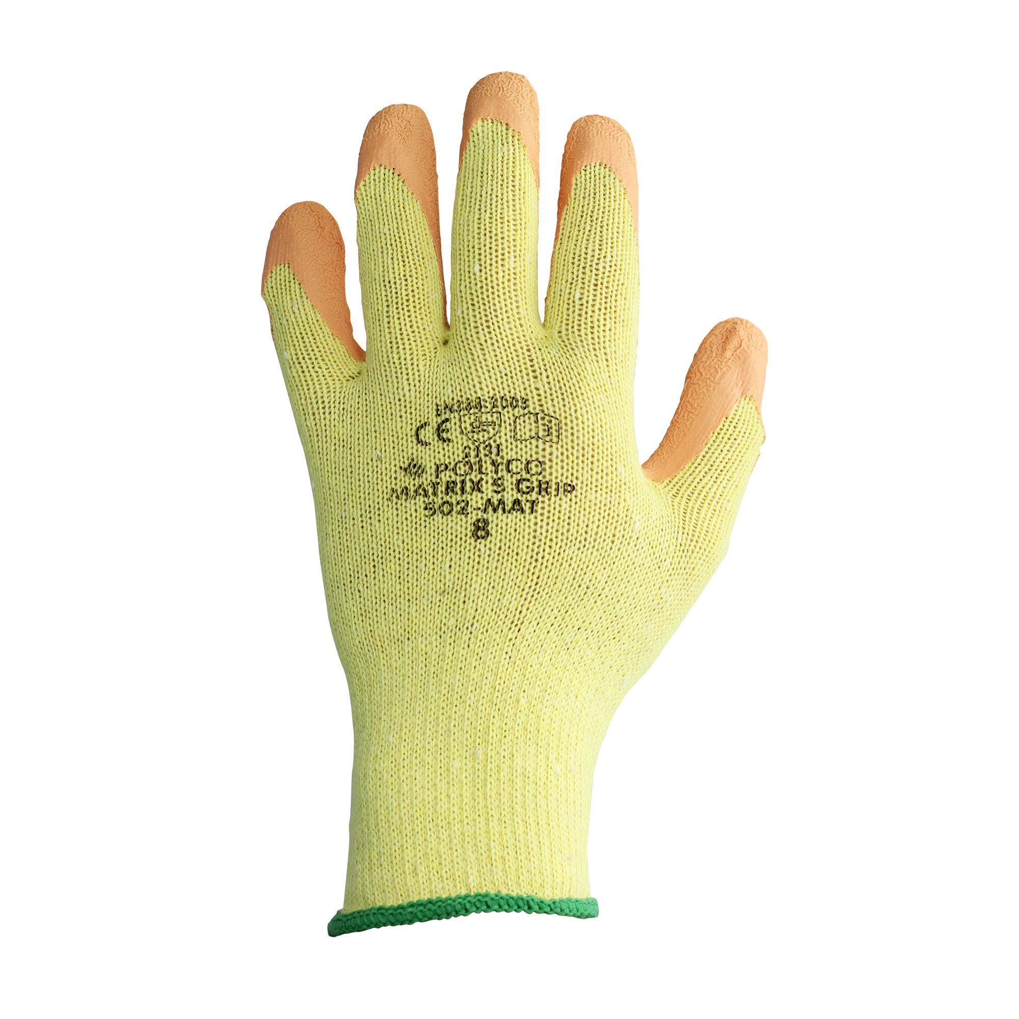 Polyco Orange Matrix S Latex Coated Gripper Gloves