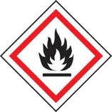 Highly Flammable Vinyl Labels On A Roll