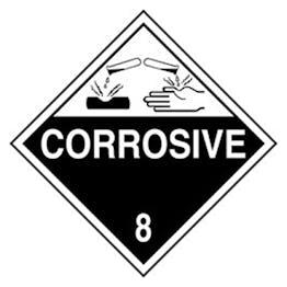 Corrosive Diamond Vinyl Labels On A Roll