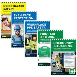 Machinery Safety Posters Bundle - 5 Pack