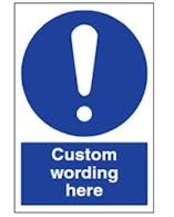 Custom Aluminium Composite Mandatory Sign
