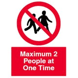Maximum 2 People at One Time