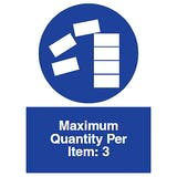 Maximum Quantity Per Item