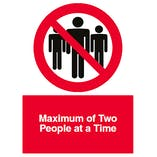 Maximum of Two People at a Time