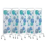 Sunflower 5 Panel Mobile Folding Hospital Screens