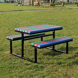 Metal and Recycled Plastic Picnic Table