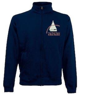 S.O.A Embroidered Mens Zipped Sweatshirt