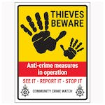 Thieves Beware / Anti-Crime Measures / See It-Report It-Stop It / Community Crime Watch