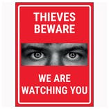 Criminals Beware We Are Watching You Red