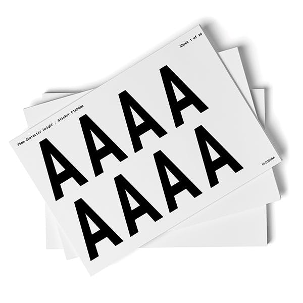 White A-Z Letter Packs - 76mm Character Height
