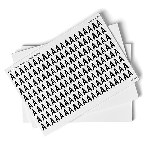 White A-Z Letter Packs - 18mm Character Height