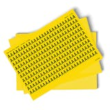 Yellow A-Z Letter Packs - 13mm Character Height
