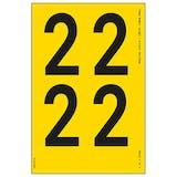 Yellow Self Adhesive 2 Labels