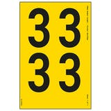 Yellow Self Adhesive 3 Labels
