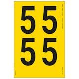 Yellow Self Adhesive 5 Labels
