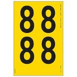 Yellow Self Adhesive 8 Labels