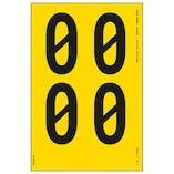 Yellow Self Adhesive 0 Labels