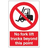 Fork Lift Prohibition Signs