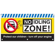 No Idling Zone Banner