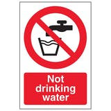 Water Prohibition Signs