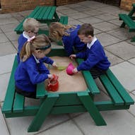 Nursery Picnic Table With Sandbox