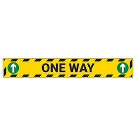 One Way Temporary Floor Sticker